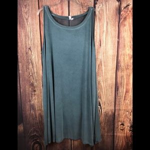 Cable and gauge gray dress with sheer back  2X